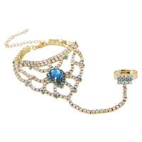 8 color 2014 New Elegant Bohemia Women Unique Rhinestone Red Droplet Chain Women Bracelets Bangles,Wedding Jewelry Free shipping
