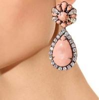 Wholesale 2014 New Arrivals Fashion Brand CZ Diamond Drop Earrings for Women Wholesale Costume Jewelry