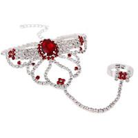 4 color 2014 New Elegant Bohemia Women Unique Rhinestone Flower Chain Women Bracelets Bangles,Wedding Jewelry Free shipping