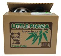 Free shipping 30pcs/lot novetly panda Steal Coin Piggy Bank Money Bank Box For Kid's Gift