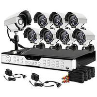 Zmodo 16CH Channel DVR 8 Outdoor 600TVL Camera Video Surveillance Security Camera System
