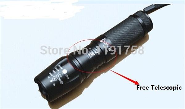 Telescopic Zoom Digital flashlight bright LED flashlight#DZ0143(China (Mainland))