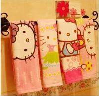 Bamboo fiber face soft hello kitty towels home hotel kitchen beach gift usd cartoon cute towel children adults towels 4pcs/lotst