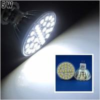 10 Pcs/lot Free Shipping MR16 LED 5W Nature White 29pcs 5050 SMD LED Spot Light Lamp Bulb AC220V LED0248