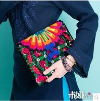 Original design new arrival chinese embroidery women handbags day clutches ipad bags canvas bags