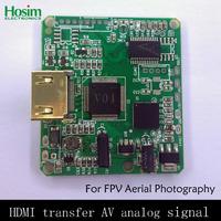 FPV aerial photo PTZ high-definition HDMI transfer AV analog signal Nex series switch board