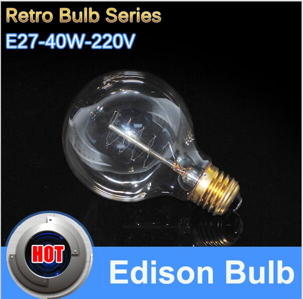 Carbon Art antique style light bulbs american vintage Edison lamp G80 Warm White E27 40w 110V 220V Halogen Bulbs,Home Decoration(China (Mainland))