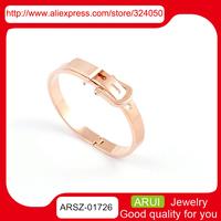 Korea temperament joker belt buckle bracelet Ms. titanium steel rose gold bracelet three color into