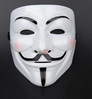 Halloween Masquerade Face Plastic Mask V For Vendetta Masks Cosplay Masks Costume Ball Masks 5 pieces/lot Free Shipping