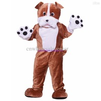 2014 New arrival Adult cartoon lovely Bulldog mascot costume fancy dress party costume adult size