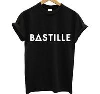 Cotton BASTILLE T SHIRT POP Top Rock Music Band Tour Pompeii Of The Night Indie ENGLISH t-shirt Men O-neck Stylish Casual Men