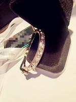 New 2014 fashion gold bracelet zircon Leather Bracelets for women jewelry bracelets bangles pulseiras femininas
