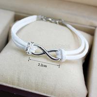 fashion leather braided bracelet