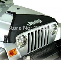 Auto Hood Cover Front End Bra Protector V-Hood Vinyl Black (1 pc) For Jeep Wrangler JK 07 Up Rubicon Sahara - Free Shipping