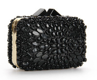 Woman Evening bag green Diamond Rhinestone Clutches Crystal Day Clutch Wallet/Purse for Wedding Party Banquet  black green