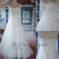 2014 New arrival tulle sweetheart floor length sweetheart sleeveless off the shoulder appliques elegant generous wedding dress