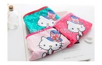 3 pcs/lot 2014 new cut cat dots women underwear high-quality low waist pants elastic and comfortable lady Cotton Briefs