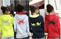 Hot sale!!! 2014 new style Fleece hoodies women's long sleeve hoodies Big Beard Contrast Color M,L,XL,XXL,SWEATSHIRTS hoodies