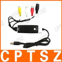 USB 2.0 PC Transfer AV VHS V8 Video Audio Grabber Capture Card DVD Maker Adapter w/ Snapshot Button