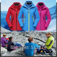 Three Kinds Of Wear Real Brand Sport Women ski-wear Waterproof Windbreaker Breathable Coat Jacket Womens Coats And Jackets A77