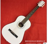 free shipping 34inch log lubricious ballad guitar/rounded corners Basswood introductory guitar log color, black, white