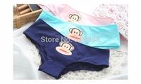 3 pcs/lot 2014 new cut monkey women underwear high-quality low waist pants elastic and comfortable lady Cotton Briefs
