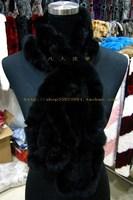 Handmade the preparation of rex rabbit hair fur scarf rabbit fur scarf multicolor