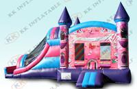 cheap inflatable princess bouncer,hot sale castle bounce slide  KKIC-L037