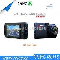 Best 1080p 4x zoom WDR G-sensor 2.5 inch car dvr camera RLDV-978