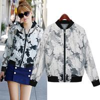 New arrival Fashion 2014 snow all-match coat zipper sport fashion jackets women coat casual