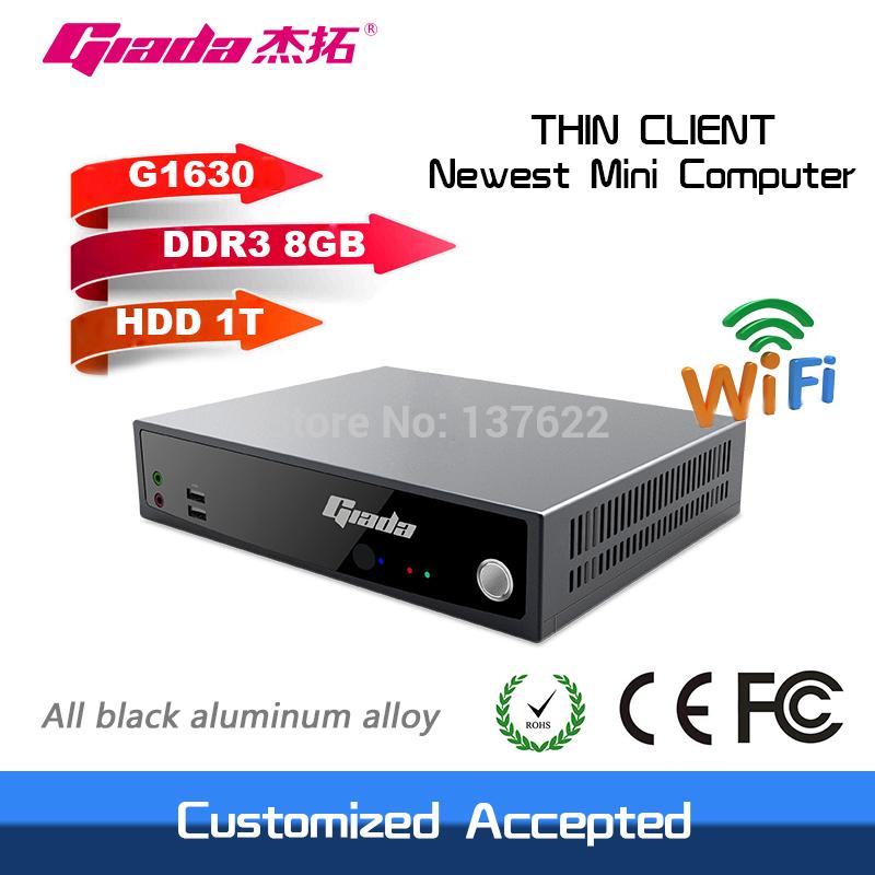 dual core 2.3GHz support HD intel celeron G1630 windows/linux HDMI+VGA thin client mini computer 8GB RAM 1TB HDD(China (Mainland))