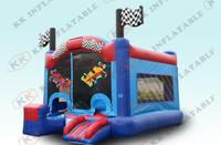 car bounce castle inflatables/inflatable race car jumper for sale KKIC-L040