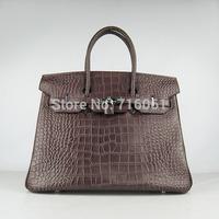 2014 new designer women handbags big brand real leather women bags Platinum crocodile leather bag designer leather female bag