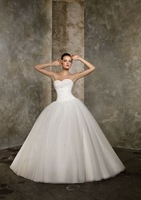 Customize All Size A Line Wedding Dress New Free shipping white/ivory High Quality Sweetheart wedding gown Bridal Gowns