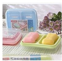 Bathroom Accessories Creative Fashion Double Soap Box Water Lid  PP