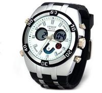 Hot Sale Watch Men 30 Meters Waterproof Wrist Watch Round Dial Rubber Band Dual Movtz Boys Lighting Watches 2014