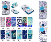 100pcs/lot Leather Case For Samsung Galaxy S Duos S7562 GT-S7562 7562  wallet cover OKAY Pineapple Sunflower  for samsung s7562