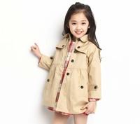 summer dress 2014 children's wear long-sleeved windbreaker Korean female baby child thin coat jacket big girls clothing sets