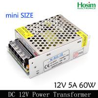 Switching Switch Power Supply for LED Strip light Lights DC 12V 5A 60W 110V/220V