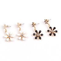 Hot Zinc Alloy Jewerly Flower Drop Earrings for Women European Romantic style Ornaments 703005 Free Shipping
