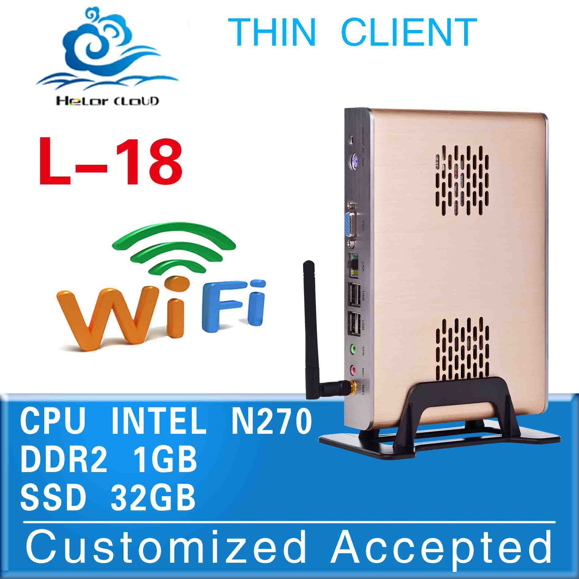 instock promotion price mini pc l-18 intel n270 1.6ghz 1g ram 32g ssd business pc support wireless keyboard and mouse(China (Mainland))