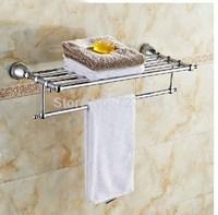 Free Shipping!   Modern Chrome Bathroom Towel Shelf Wall Mount Towel Holder With Towel Bar & Hook