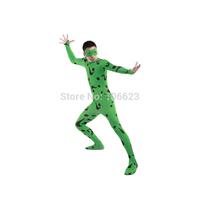 Green Floral Catsuit Superhero Costume Zentai Unisex Party Costume Halloween Costume Festival Costume