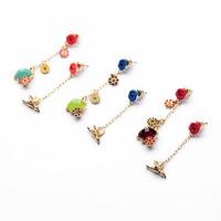 Hot Zinc Alloy Jewerly 2014 Fashion Flower Drop Earrings for Women Trendy style Ornaments Rhinestone Earrings822012Free Shipping