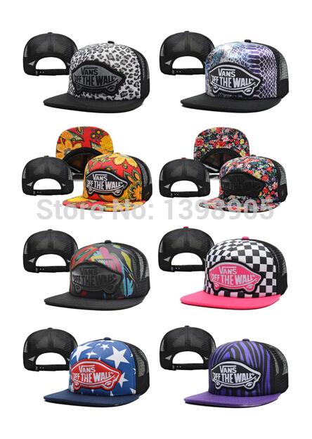 Vans Snapback Hip Hop Caps Warped Tour 2014 Trucker Adjustable Hats Caps Off The Wall Cheetah Floral Print Street Headwear Vans(China (Mainland))
