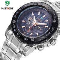 Free shipping Men watches 2014 luxury brand name WEIDE watch 30m waterproof military Japan quartz LED dress wristwatch dropship