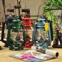 Mediterranean style iron candlestick hurricane lamp portavelas Kerosene candleholder lamps hurricane lamp kerosene camping gift
