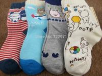 2014 new children's socks cotton kids socks (2 -6) yrs old kids spring and autumn cartoon style socks (4pairs/lot )