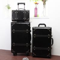 2014 Vintage Trolley Luggage Travel Bag Luggage Female the box PU