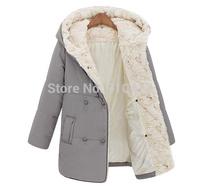New 2014 Winter Thick Warm Long Casual Women Winter Jacket S M L XL XXL Free Shipping